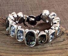 NWT UNO de 50 LIVING LA VIDA LOCA Blue & Grey Crystal Bracelet w/Pkging PUL1197
