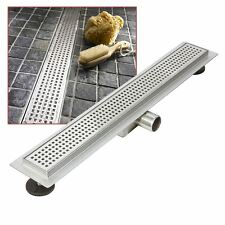 """600mm Stainless Steel Long """"Rectangular"""" Wetroom / Shower Drainage System"""