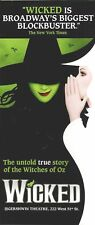 WICKED the musical B'way flyer 2017 a Global Phenomenon