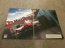 Vintage 1996 MARLBORO INDY CAR TEAM ROGER PENSKE Poster Print Ad 1990s RARE