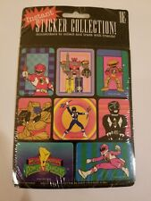MIGHTY MORPHIN POWER RANGERS 1993 Saban BE STICKER COLLECTION Sealed MMPR FIGURE