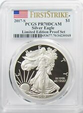 2017 S American Silver Eagle PCGS PR70DCAM Limited Edition Proof Set FS