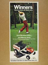 1973 jack nicklaus photo Murray 30 Riding Lawn Mower vintage print Ad