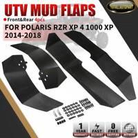 4x RH + LH Mud Flaps Fender Flares for Polaris RZR XP 4 1000 XP UTV 2014-2018