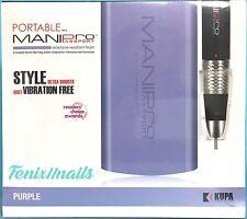 KUPA MANI PRO PASSPORT E-FILING SET Nail Drill Hand Piece & PURPLE Control Box