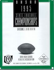 1995 OHIO HIGH SCHOOL FOOTBALL STATE CHAMPIONSHIP GAME PROGRAM       AWESOME