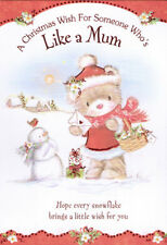 cute YOU'RE LIKE A MUM TO ME Christmas card - 2 x cards to choose from!