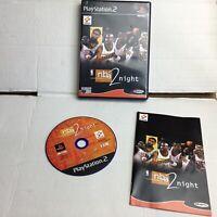 NBA 2 NIGHT PS2 PLAYSTATION 2 GAME. PAL UK. MANUAL Basketball 2night