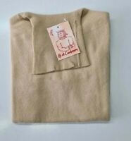 PULL TAILLE S SWEATER DONNA 100% PUR CASHMERE CACHEMIRE PURE DONNABY BEIGE