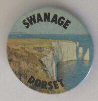 Swanage Dorset England Souvenir Button Badge Pin Vintage Rare (N19)