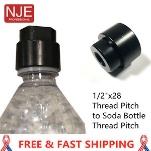 Soda Pop Bottle 1/2x28 TPI Cleaning Patch Trap Muzzle Adapter for .223 and 9MM .