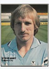 STEVE HUNT COVENTRY CITY 1978-1984 ORIGINAL HAND SIGNED PICTURE CUTTING