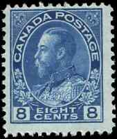 Canada #115 mint F-VF OG NH 1925 King George V 8c blue Admiral CV$110.00