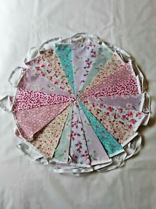 Clearance Fabric Bunting 80ft 24 metres   Handmade Vintage END OF LINE