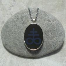 Sigil Of Sulfur Leviathan Cross Pendant Necklace Black Blue