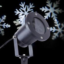 LED Laser Licht Snowflake Projektor Beleuchtung Gartenlicht weiss WASSERDICHT