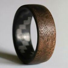 The Lumberjack Walnut Twill Wood and Carbon Fiber Ring