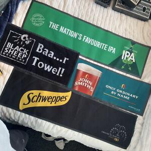 4 X Brand New Joblot Bar Runners - Black Sheep, John Smiths, GK IPA, Schweppes