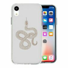 For Apple iPhone XR Silicone Case Reptile Snake Print - S9355