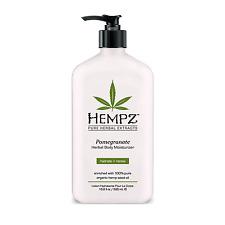 Hempz Pomegranate Herbal Body Moisturizer 16.9 oz / 500 ml Natural Hemp Seed oil