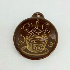 FIESTA CHRISTMAS ORNAMENT 2016 VHTF 80th CUP CAKE chocolate brown NEW