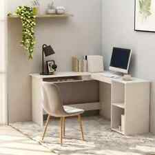 vidaXL L-Shaped Corner Desk Chipboard White 120cm Office PC Computer Table