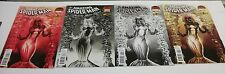 AMAZING SPIDER-MAN: RENEW YOUR VOWS #3 MARY JANE VENOM, RED, B & W, NEGATIVE SET