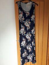 Originals Size 18 Navy Print Maxi Dress Self Tie Belt