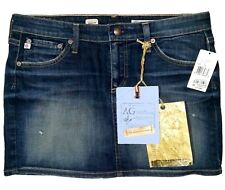 AG Adriano Goldschmied Chance Denim Mini Skirt Size 30 AG-ed 5 Years Distressed