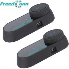 2x Bluetooth Helmet Intercom Communication Kit BT Motorcycle Interphone Headsets
