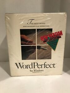 Word Perfect For Windows Version 5.2 used
