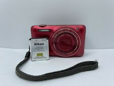 Nikon Coolpix S6600 16.0 MP Digital Camera With Battery - Red