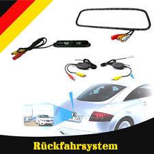"""kabellos Rückfahrsystem Einparkhilfe Rückfahrkamera Funk 4,3""""Rückspiegel Monitor"""