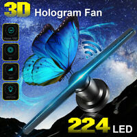224 LED HD WiFi Holographic Hologram Fan Projector Display Advertising Fan 42cm