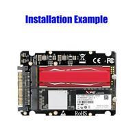 Widewing Adapter Karte Konverter für PC Desktop Computer M.2 NVME SSD Key M