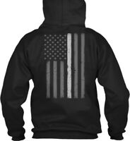 Trendy Thin Silver Line Flag Corrections Gildan Hoodie Gildan Hoodie Sweatshirt