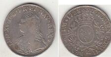 Monnaie Royale écu argent Louis XV aux branches d'olivier 1728 E