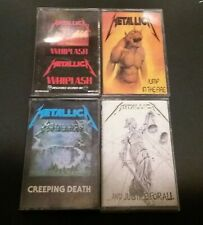 METALLICA RARE OOP 4 TAPE CASSETTE LOT MEGAFORCE WHIPLASH CREEPING DEATH