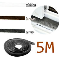 5M Door Window Frame Draught Excluder Brush Pile Seal  Insulation Weather Strip