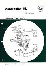 Leitz Metalloplan HL Parts List on CD LO182