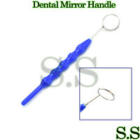 Dental Mouth Mirror #5 W/ Plastic Handle Dental Instruments