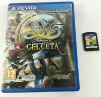 Jeu Sony PS VITA VF  YS Memories of Celceta  Envoi rapide et suivi