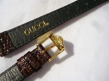 Cinturino GUCCI misura 13 in rettile marrone Gucci ricambio originale