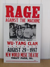 Vintage Rage Against The Machine Concert Poster 1997 Wu-Tang Clan