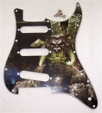 CUSTOM ARTWORK SCRATCHPLATE FOR FENDER STRAT/PG25