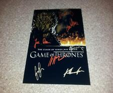 "GAME OF THRONES CASTX7 PP SIGNED 12""X8"" POSTER PETER DINKLAGE LENA HEADEY N2"