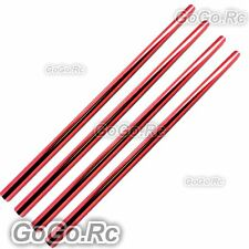 4 Pcs Tail Boom 347mm Red For Trex 450 V2 V3 PRO Helicopter (L450051X4)