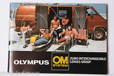 Olympus OM System Lenses Zuiko Group Sale Book Brochure - English - USED B14