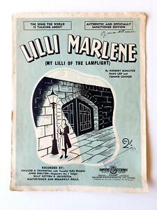 Lilli Marlene Sheet Music by Norbert Schultze, Hans Leip & Tommie Connor