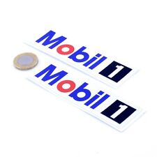 Mobil 1 Oil Stickers Classic Car Motorbike Racing Vinyl Decals 100mm x2
